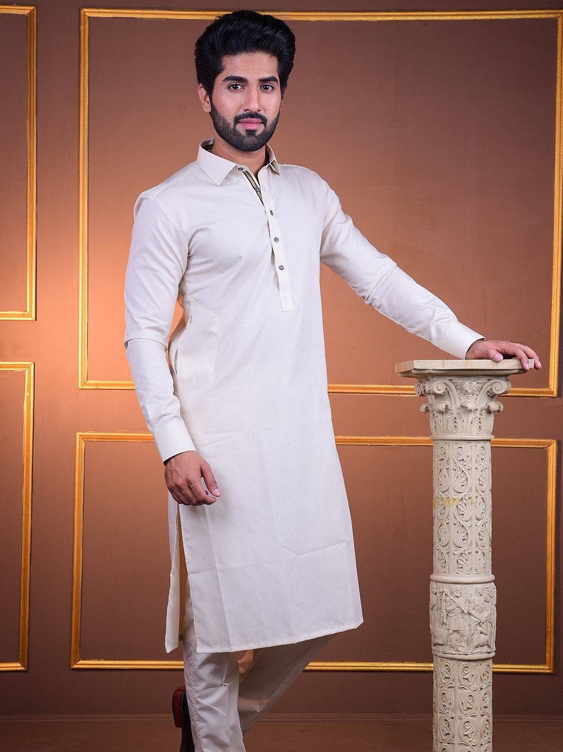 The Cress - Premium Kurta Pajama In Fawn