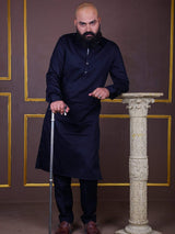 The Cress - Kurta Pajama In Black