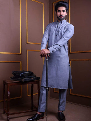 The Cress - Kurta Pajama In Grey