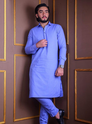 The Cress - Kurta Pajama In Blue