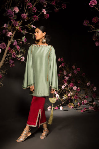 Mahgul - Handworked Embellished Shirt & Pants