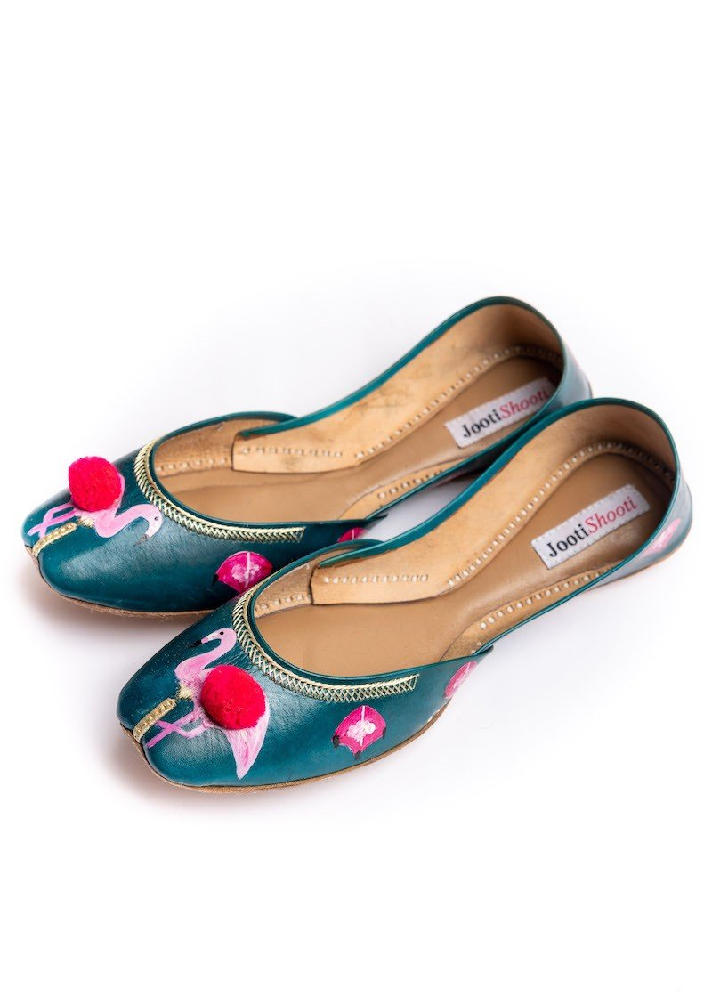 JootiShooti - Off The Flamin-Goes In Sea Green Khussa