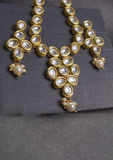 Designs By Amina - Kundan Necklace And Earrings Mala Set