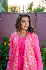 Designs by Amina - Pink Gota Suit - Three Piece Stitched