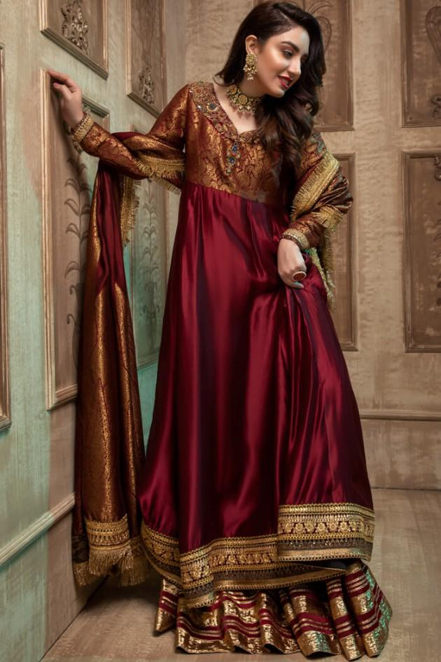 Nilofer Shahid - Crimson Flare - 3 PC