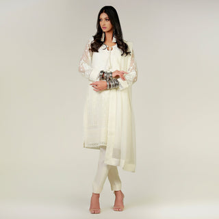 Rizwan Beyg - Marori Embroidered Kali Shirt with Dupatta