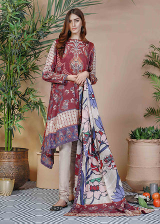 Soffio - Unstitched Lawn Collection Khwabeeda SK-077 - 2 PC
