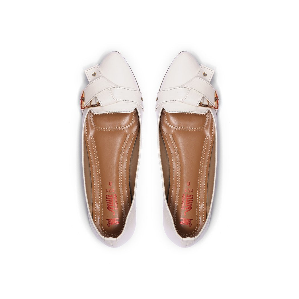 Milli Shoes - White Loafers - 8661
