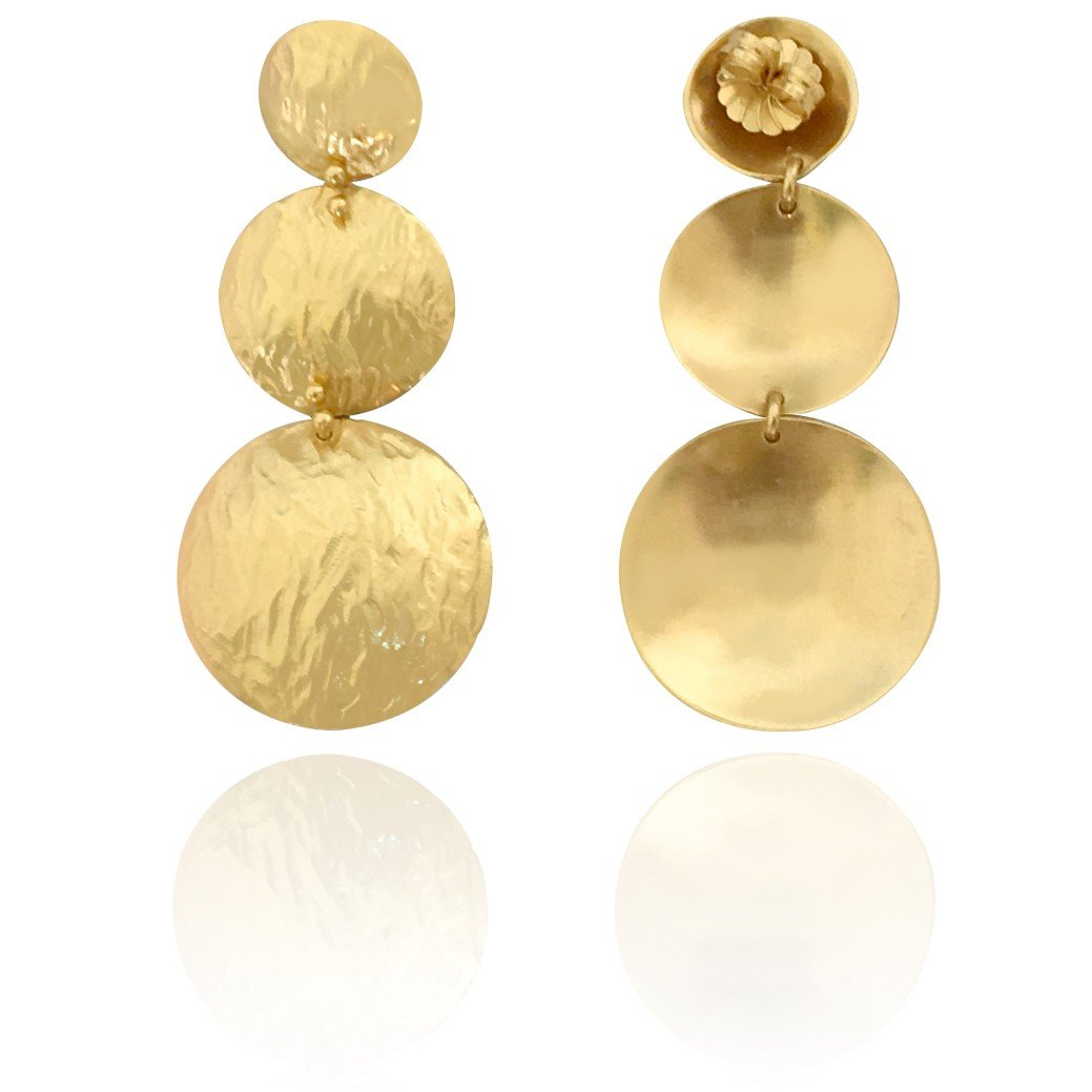 Vanessa Heaney - Gold Moon Statement Earrings