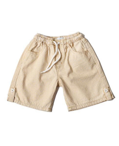 Hummingbirds - Yellow & White Lines Shorts