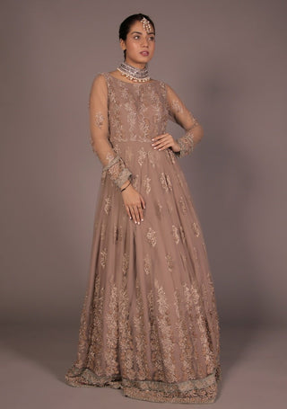 Huma Adnan - Beige Long Dress