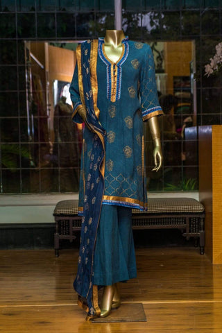 Faiza Samee -  Indigo Collection Shirt & Dupatta