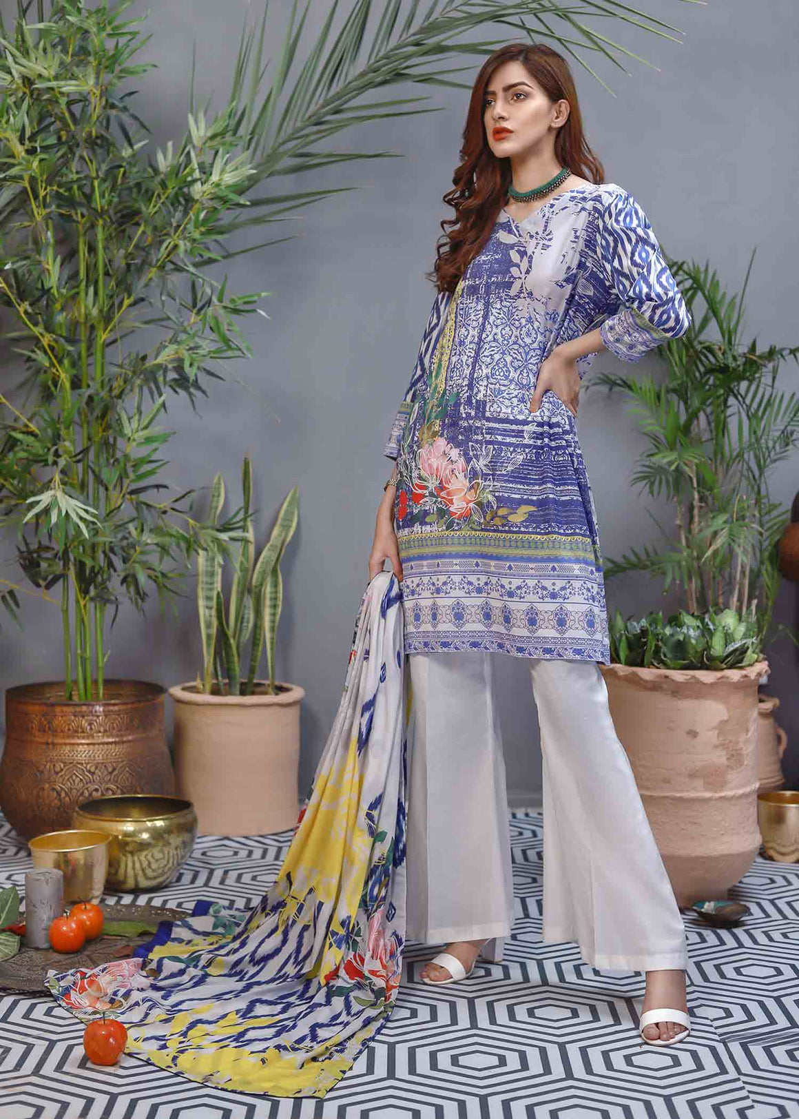 Soffio - Unstitched Lawn Collection Khwabeeda SK-033 - 2 PC