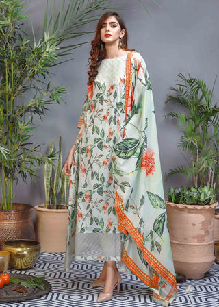 Soffio - Unstitched Lawn Collection Khwabeeda SK-088 - 2 PC