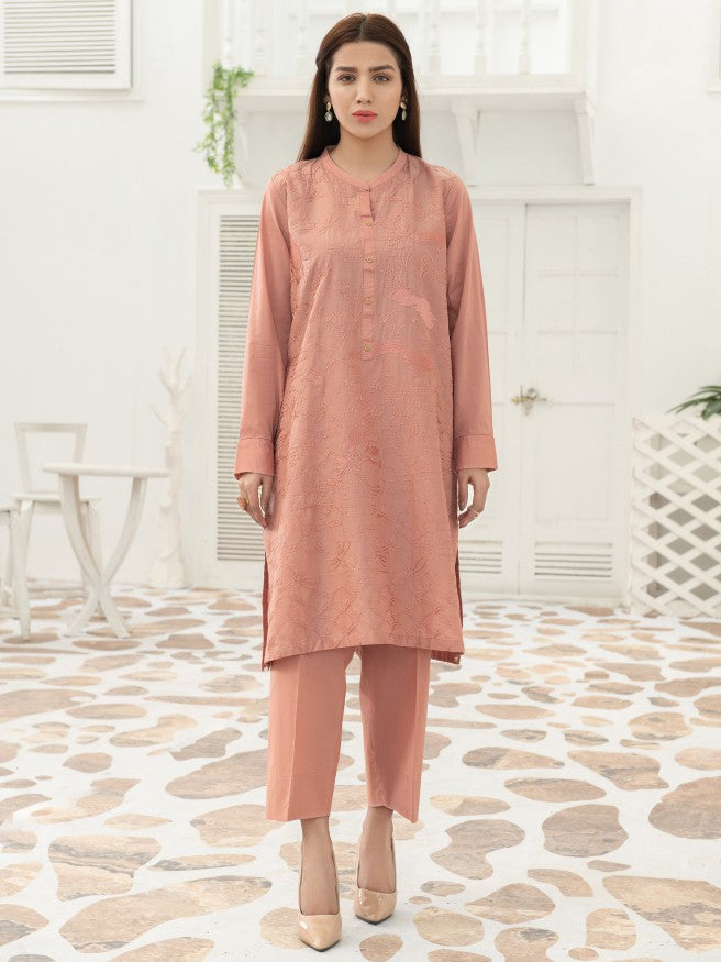 Limelight - Rust Embroidered Lawn Suit - 2 PC - P3662