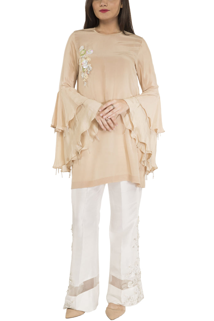 Maheen Ghani Taseer - Grip Embroidered Shirt