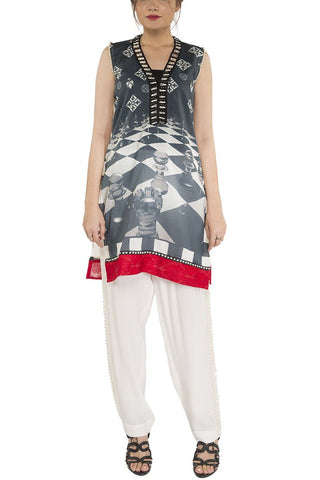Mehreen Noorani - Chess Board Tunic