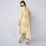 Rizwan Beyg - Golden Vandela Chiken Shirt with Dupatta