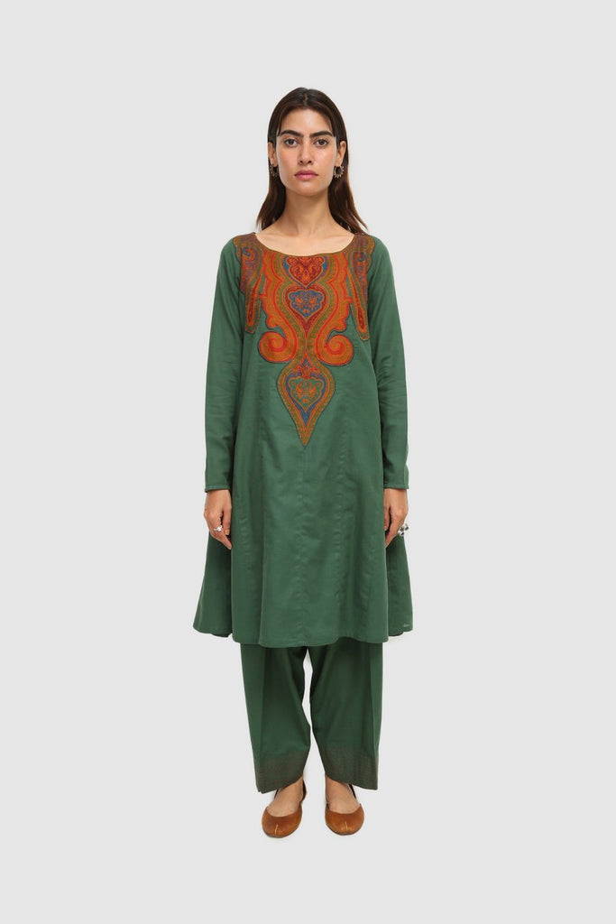 Generation - Green Kashmiri Jama 2-Pc - 2 PC