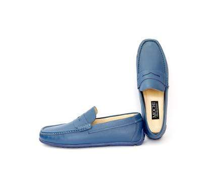 Mochi Cordwainers - Blue Driving Mocassins