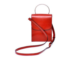 Magnolia - Red Cross Body Satchel Bag
