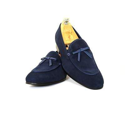 Mochi Cordwainers - Blue Belgian Loafers