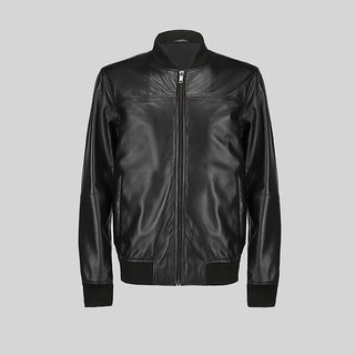 Novado - Mens Black  Leather Jacket - NMLJ-1462