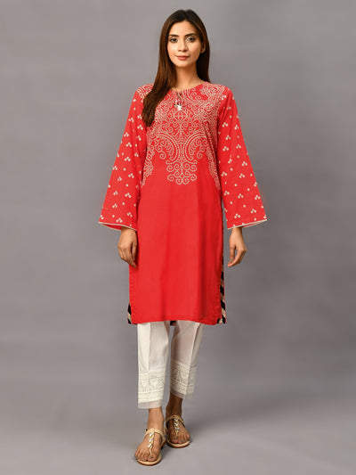 Limelight - Red Printed Lawn Shirt - 1 PC - C1196SH
