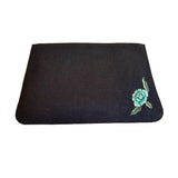 Marvi - Blue & Black Denim Clutch