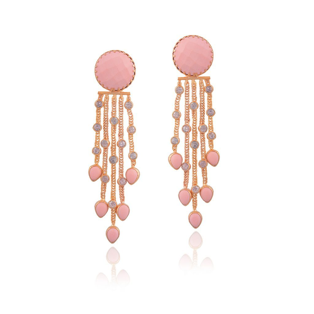 Red Dot Jewels - Ciana Pink Tassel Earring
