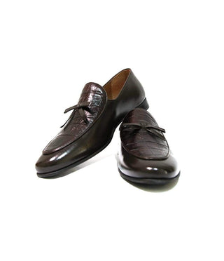 Mochi Cordwainers - Brown Croc tie slipon
