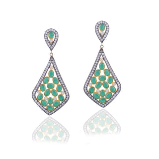 Red Dot Jewels - Diana in Green