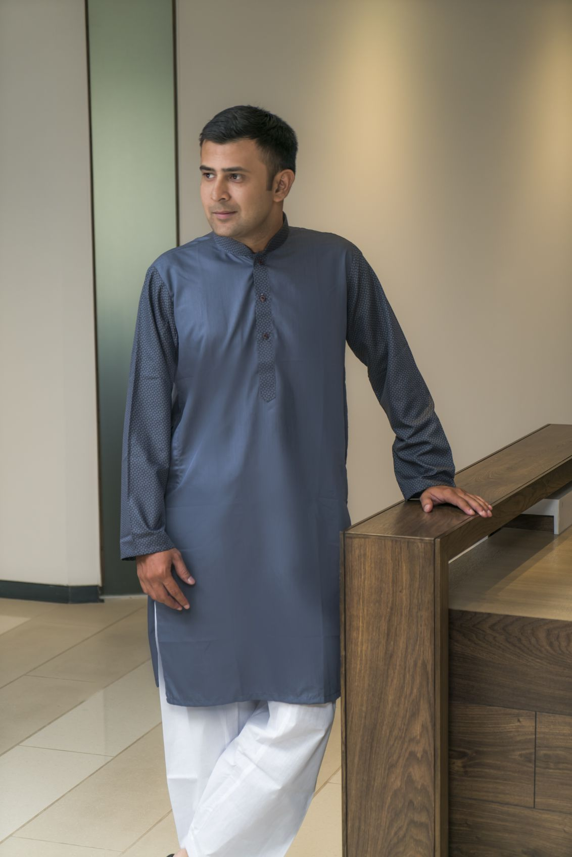 Mens Kurta Grey
