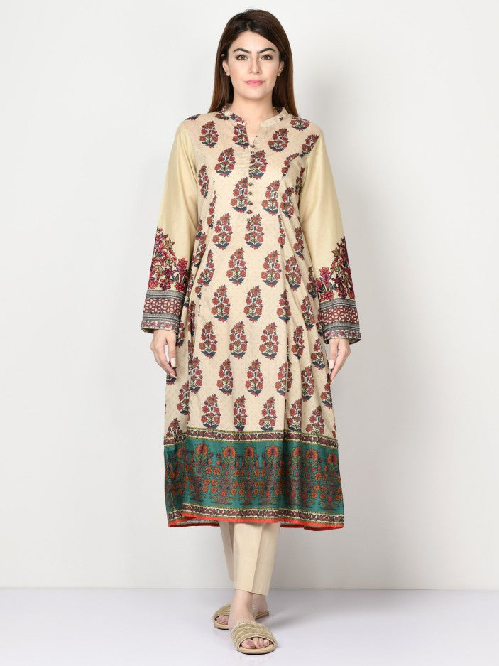 Limelight - Cream Embroidered Lawn Shirt - 1 PC - P1629