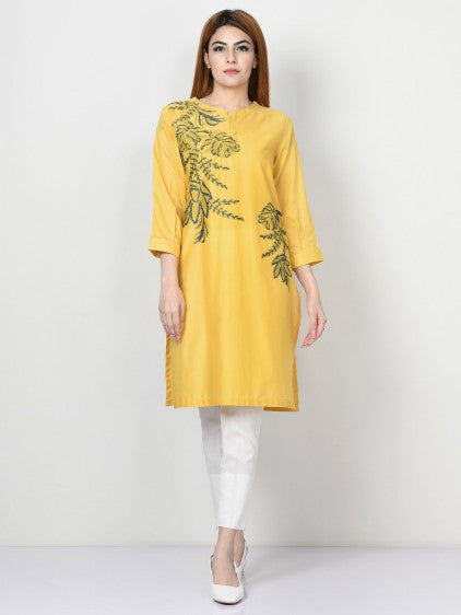 Limelight - Mustard Embroidered Lawn Shirt - 1 PC - P3932SH
