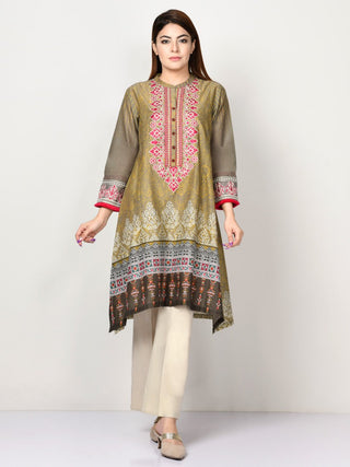 Limelight - Grey Embroidered Lawn Shirt - 1 PC - P1573