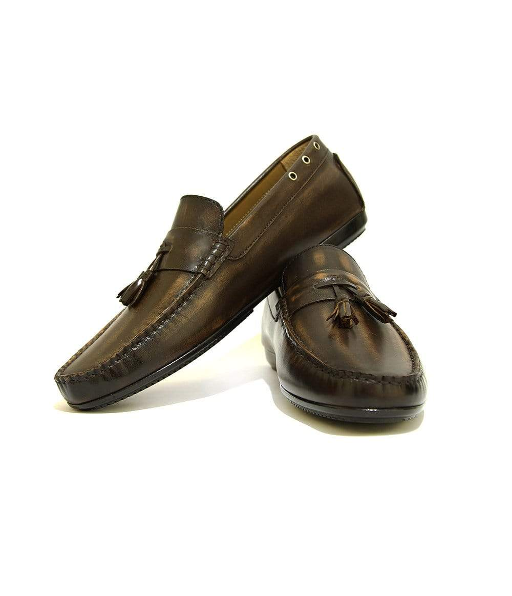Mochi Cordwainers - Antique Brown Drivers in Antique brown