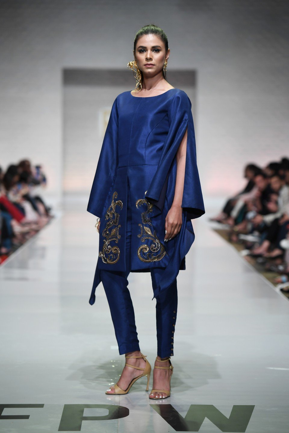 Yasmin Zaman - Blue Pure Silk Shirt
