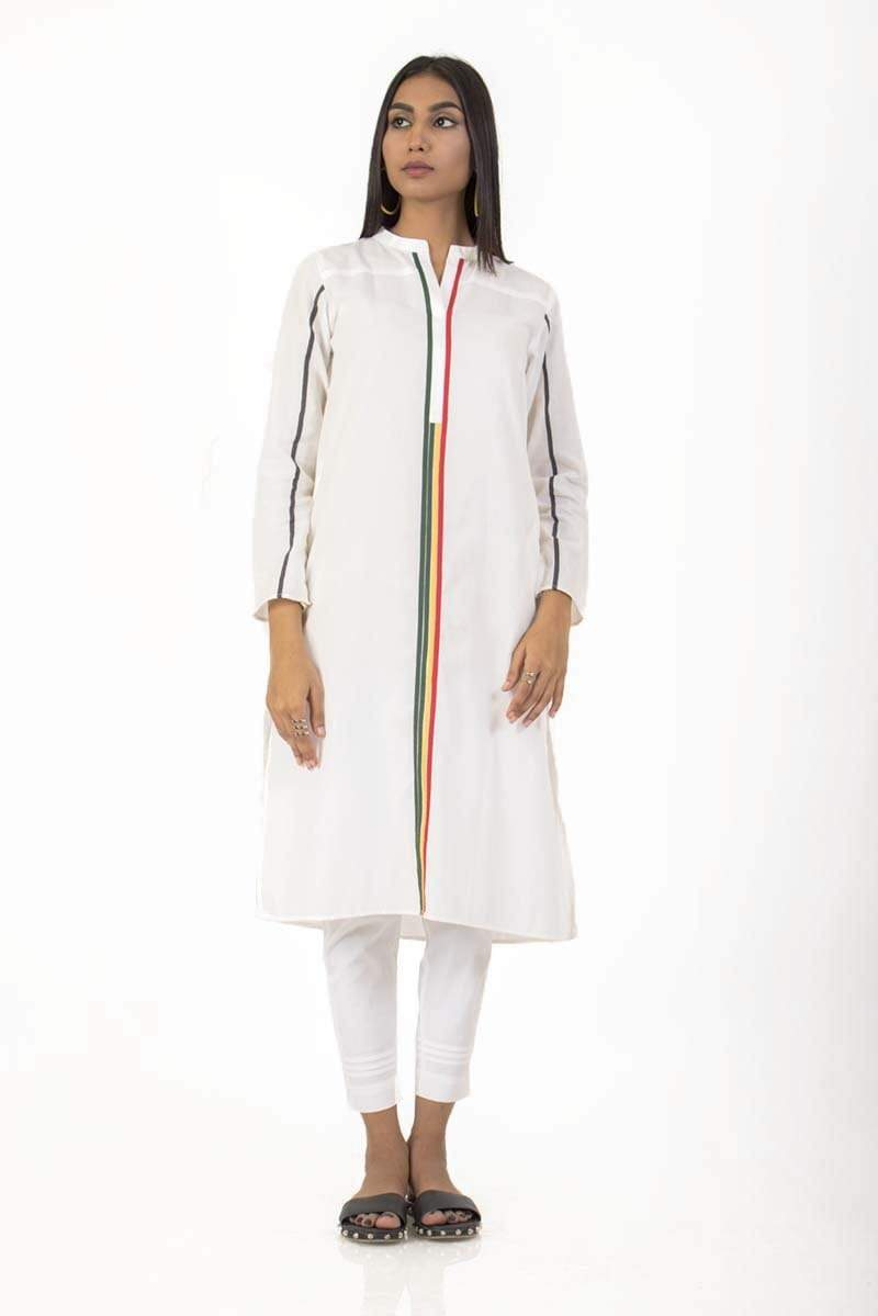 Ego - Off White Kurta - RYG