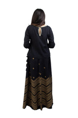 Ego - Black Chevron Gharara - 2 PC