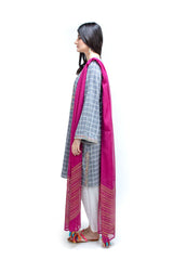 Ego - Light Grey Chequered - 3 PC