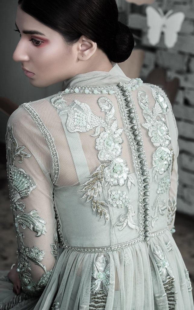 Tena Durrani -  Edena Embroidered Net Shirt With Silk Inner & Silk Skirt