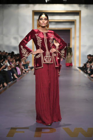 Yasmin Zaman - M Velvet Jacket and Pants - F-191