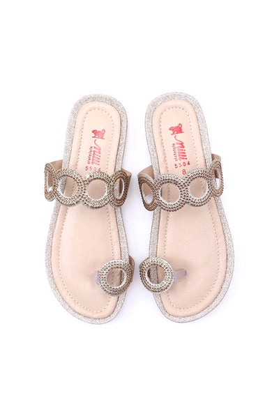Milli Shoes - Fawn Gold Flats - 5504