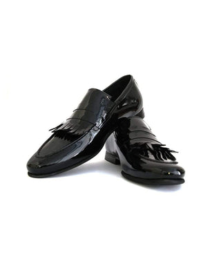 Mochi Cordwainers - Black French Fringes Slipons