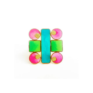 Red Dot Jewels - Geometric Ring