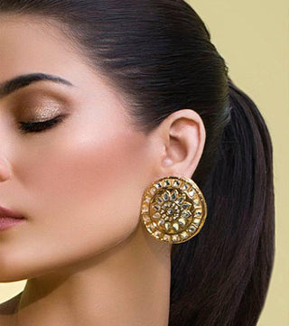 Allure by MHT - Gold Prism Earring