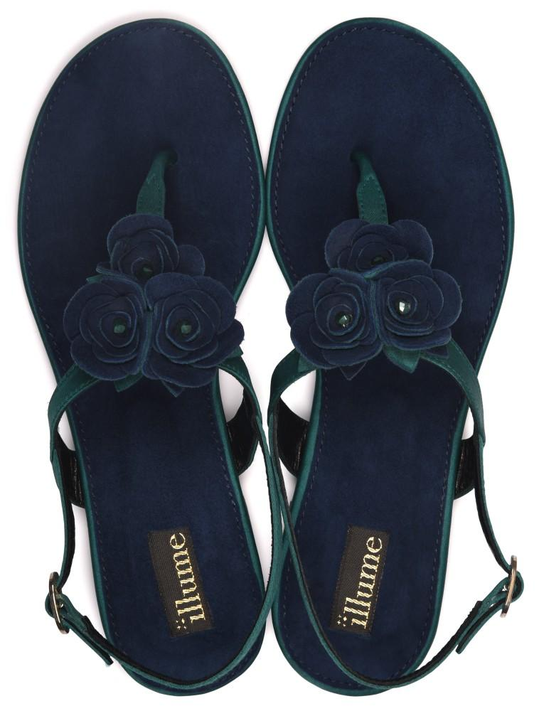 Illume - Navy Blue and Emerald Bloom
