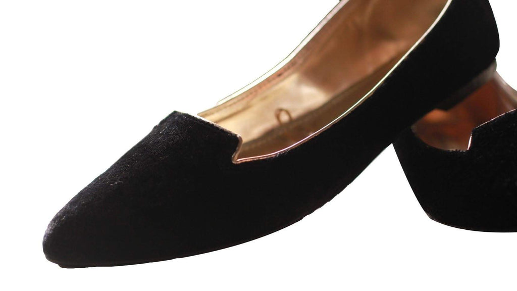 Chapter 13 - Black Pointed Velvet Loafer