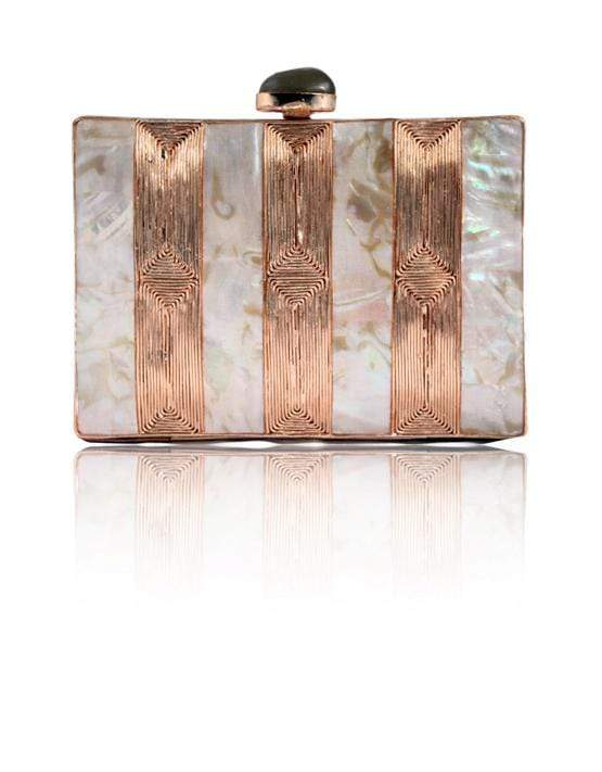 Hermosa - Rocia Rose Gold Clutch